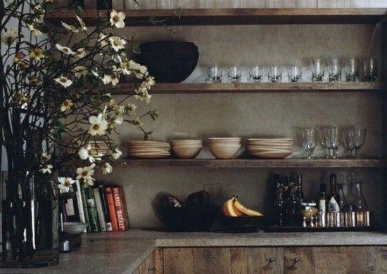 breit holz brett teller regale blumen küche rustikal