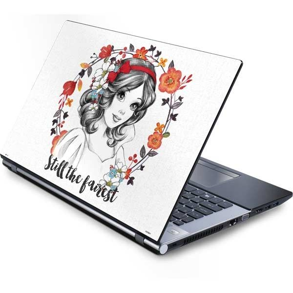 "Accessorize your Laptop with Disney's ""Snow White Still the Fairest"" Laptop Skin. This unique Snow White Laptop Skin design features a original Disney artwork of Snow White surrounded by an outline of colorful florals. Make your Laptop the fairest of them all with the ""Snow White Still the Fairest"" Laptop Skin. Select your Laptop device."