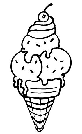 Ice Cream Coloring Pages for Free
