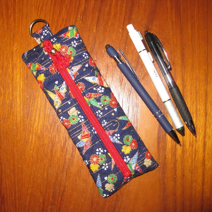 Pen, Pencil or Makeup Cosmetic Brushes Pouch with