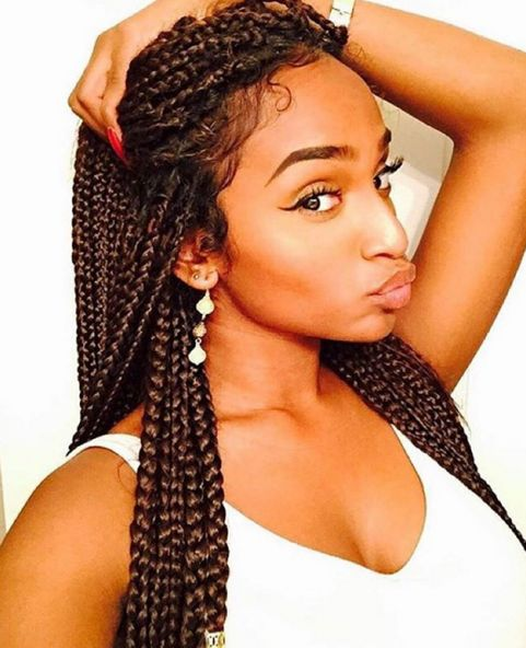 Cute Braids, Edges Fly Too @selineallen - http://community.blackhairinformation.com/hairstyle-gallery/braids-twists/cute-braids-edges-fly-selineallen/