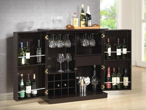 baxton studio stamford dark brown modern bar cabinet for the best deal price of furniture in chicago