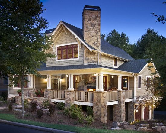 81 best craftsman style houses images on pinterest for Craftsman style log homes