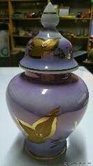 lascosasdemiabuelo: Jarrón de porcelana y pan de oro