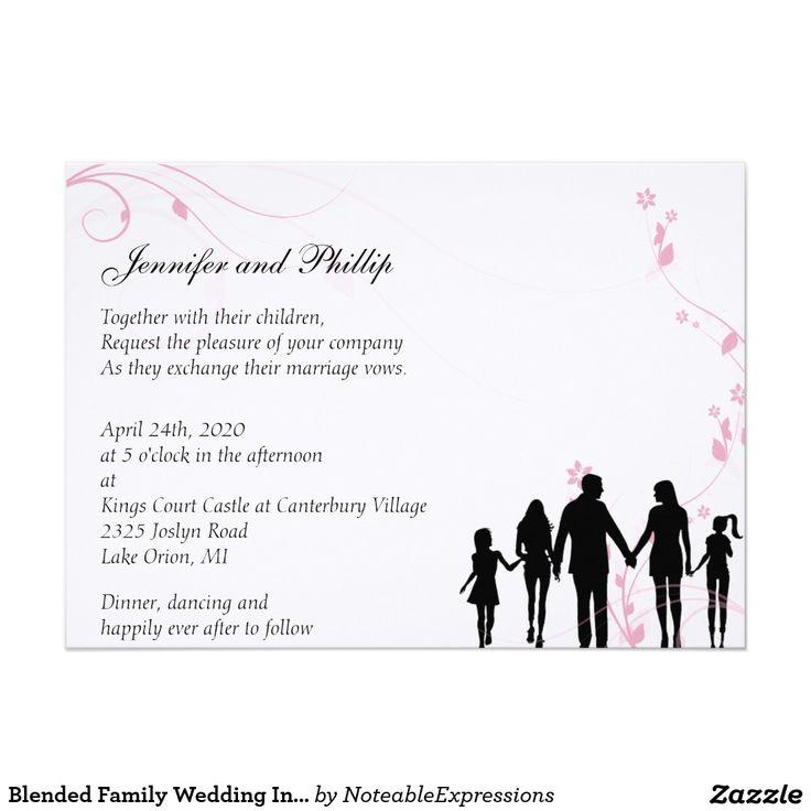 Family Wedding Invitation Blended Wording