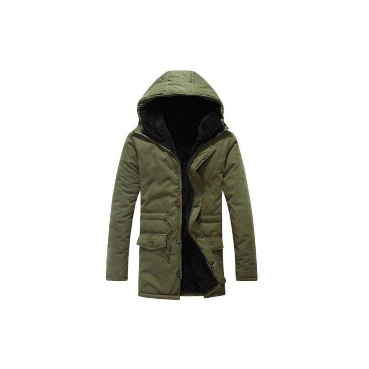 Kapucnis szőrmebéléses férfi kabát - Férfi - Women's World