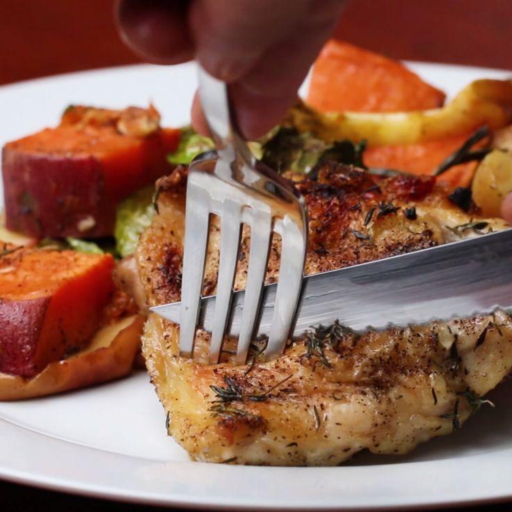 One-Pan Autumn Chicken & Veggie Bake