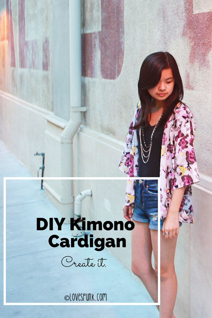 DIY Kimono Cardigan that's perfect for the summer. Includes step-by-step instructions/photos for drafting your own pattern and sewing it together.
