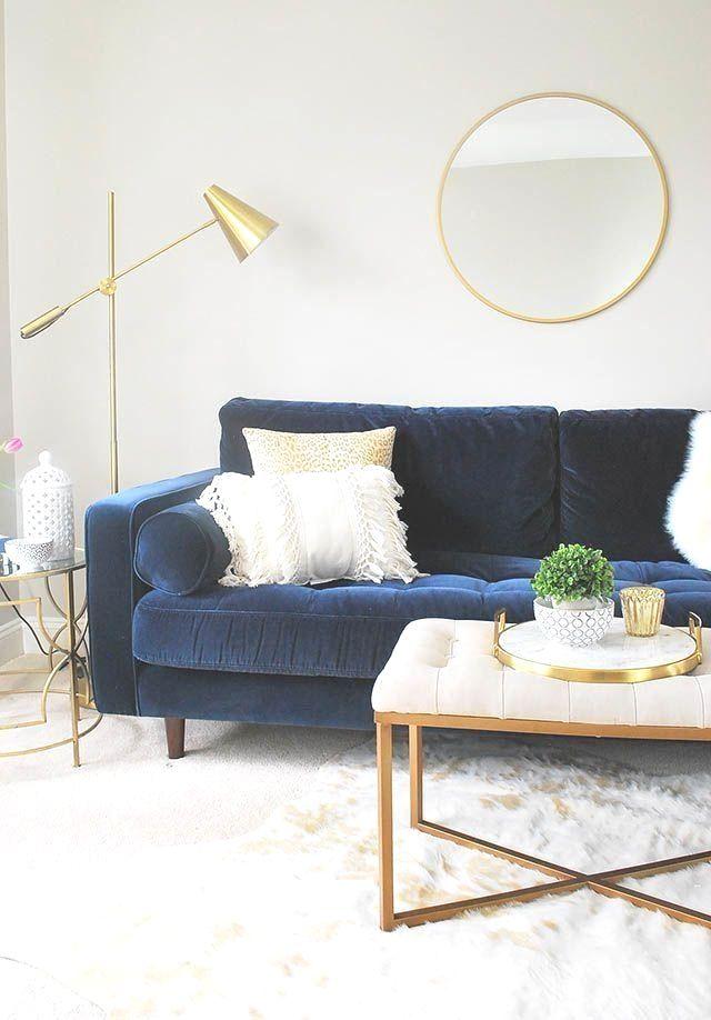 40 Awesome Minimalist Living Room Decor Ideas Gold Living Room Blue Couch Living Room Blue Couch Living