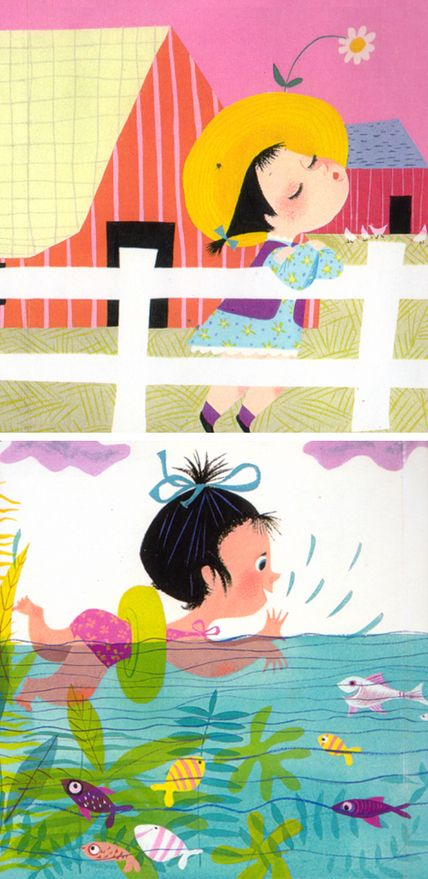 Mary Blair's illustration for I Can Fly