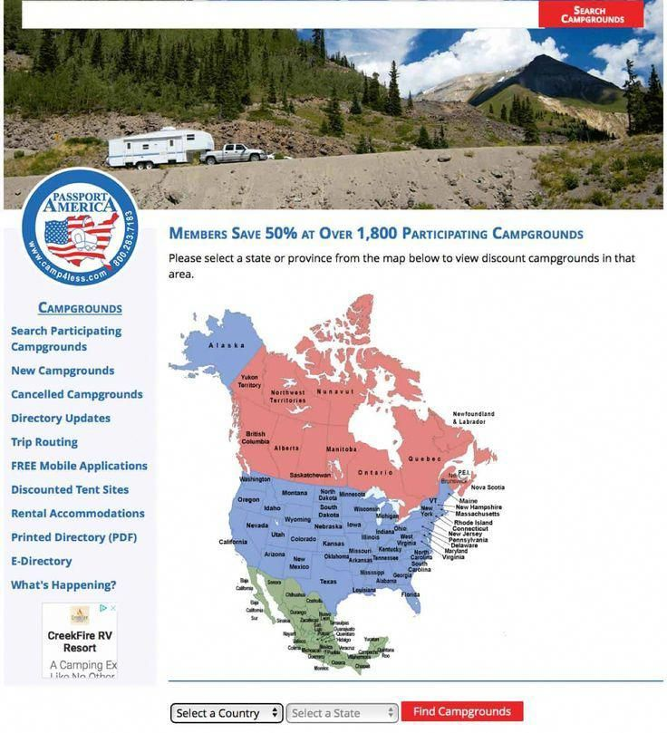 Passport America Camping Membership With Images Camping Essentials What To Take Camping Camping Resort