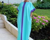 Items similar to Mint Maxi Dress, Cotton Knit Caftan Dress, Plus Size Dress, Abaya Dress, Plus Size Clothing, Sizes S , M , L on Etsy