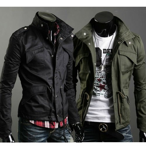 Mens Jacket Coat Black or Army green