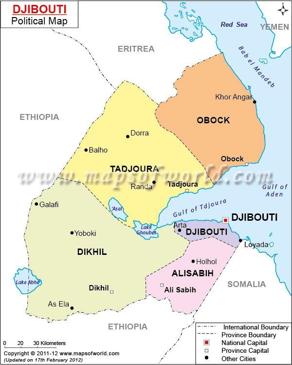 Mapa de #Djibouti