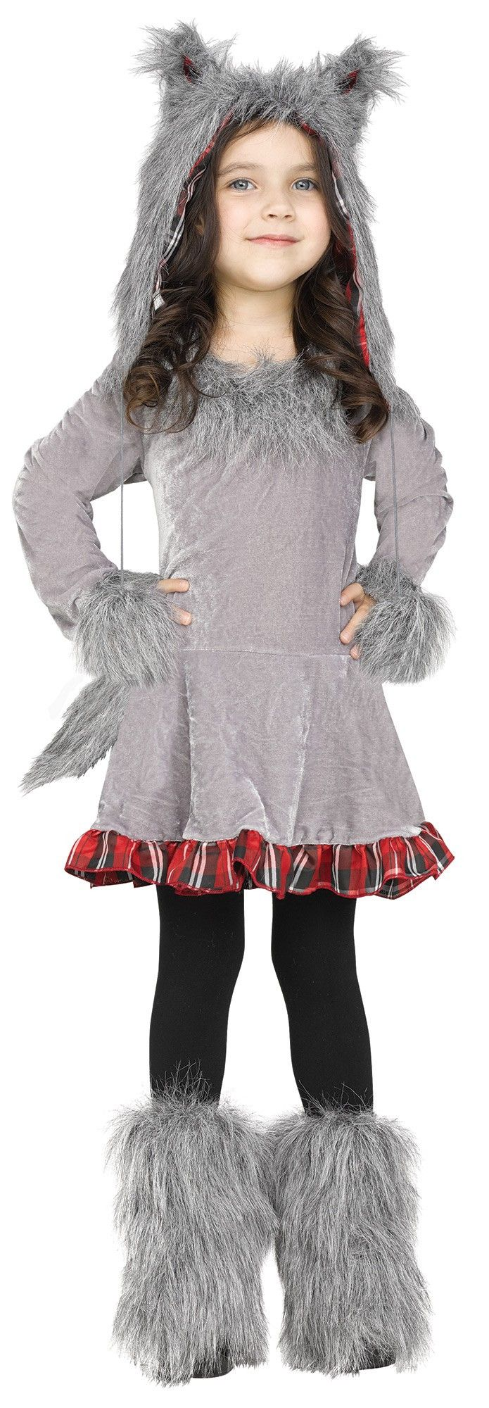 Description #125121 Includes: - Dress - Tail - Hood - Boot Tops - Toddler Size Sizes: 3-4T, 4-6
