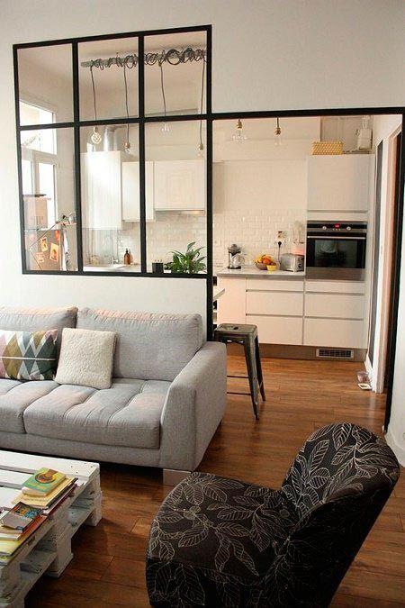 Idea para Miami, Abrir al salón con una cristalera parcial.