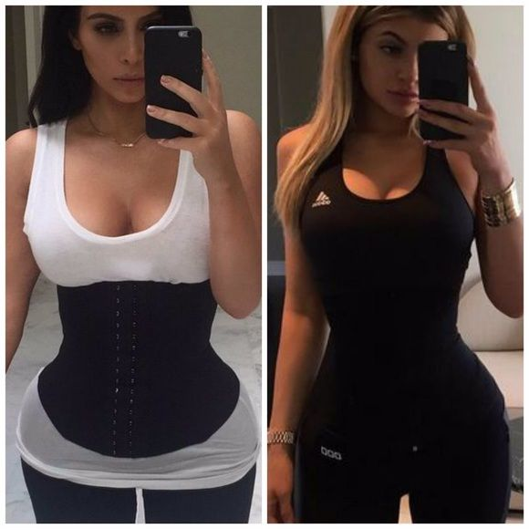 • Black latex steel boned waist trainer size 3XL • Available in S and L.  100% latex corset. Lining: 96% cotton, 4% spandex. Steel boned. Waist control. Best if worn 6 hours a day. You can wear it during work outs and while you sleep. Tops