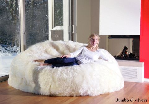 Natural Sheepskin Beanbag Chairs