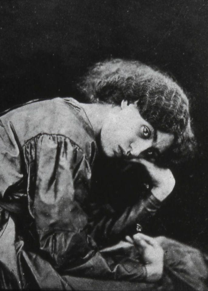 Jane Morris, née Burden, photographed in 1865