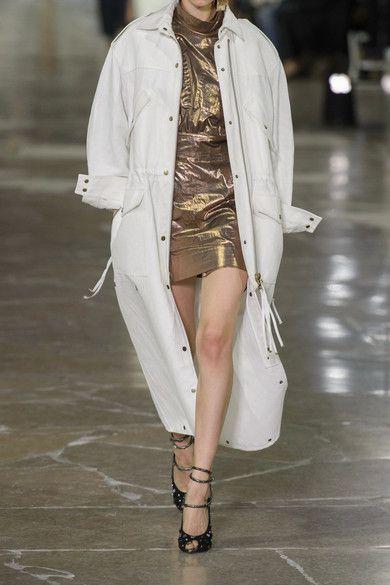 KENZO - Metallic Cotton Mini Dress - Gold - FR40