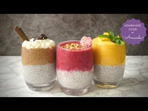 5 CHIA PUDDINGS with So Delicious - VEGAN RECIPE - YouTube