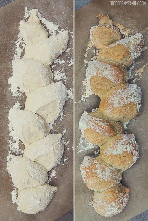 How to Make Pain d'Epi {Wheat Stalk Bread} #recipe via FoodforMyFamily.com #breadin5