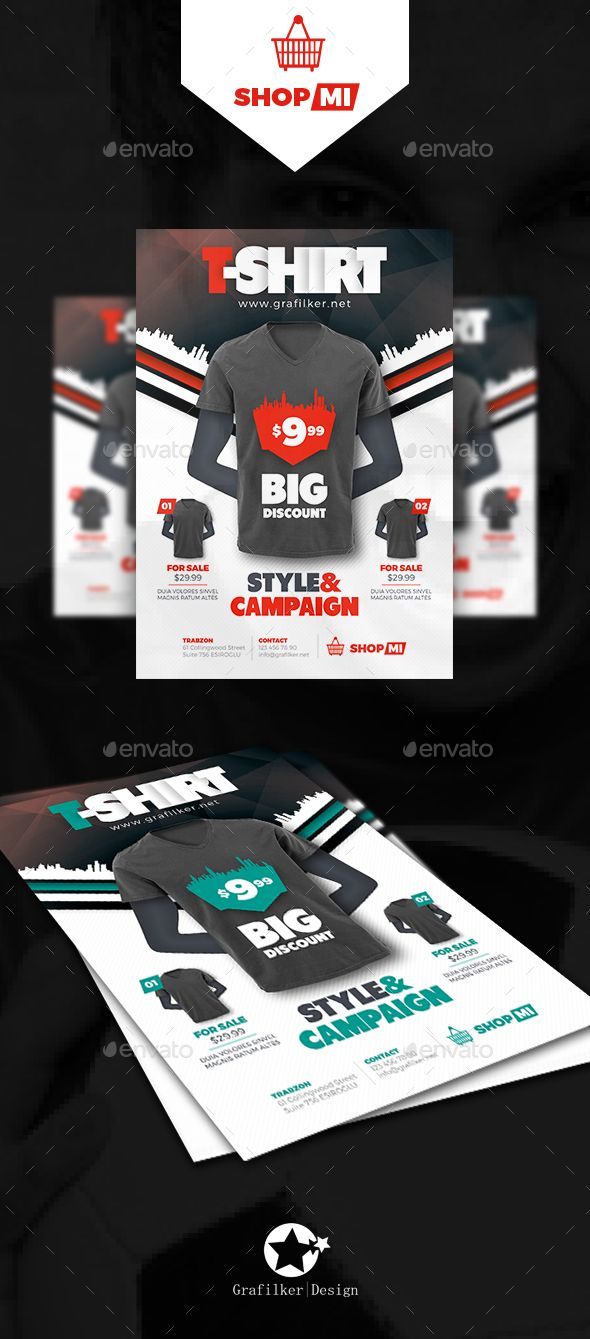 T-Shirt Flyer Template PSD, InDesign INDD. Download here: http://graphicriver.net/item/tshirt-flyer-templates/16142477?ref=ksioks