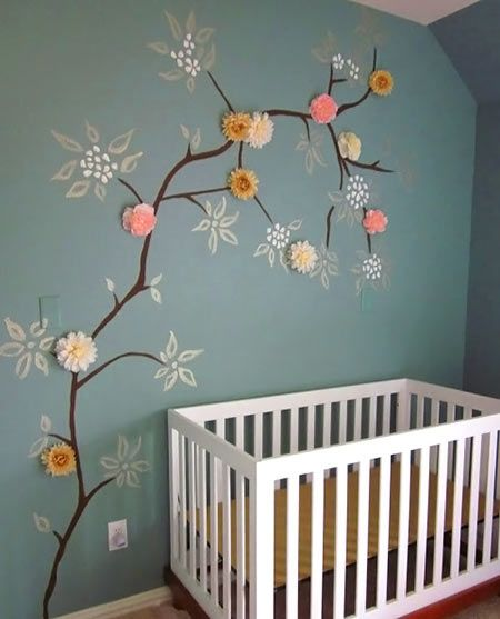 Very creative idea for painting the nursery's wall!