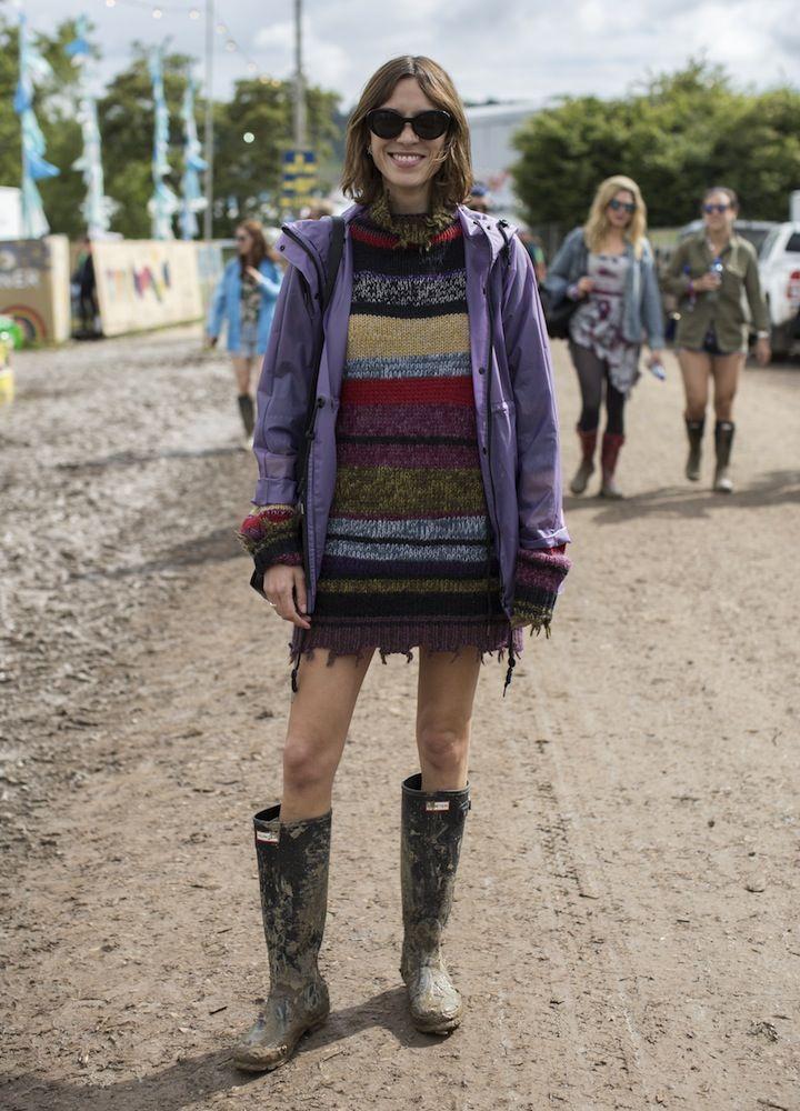 Alexa Chung, Glastonbury 2016