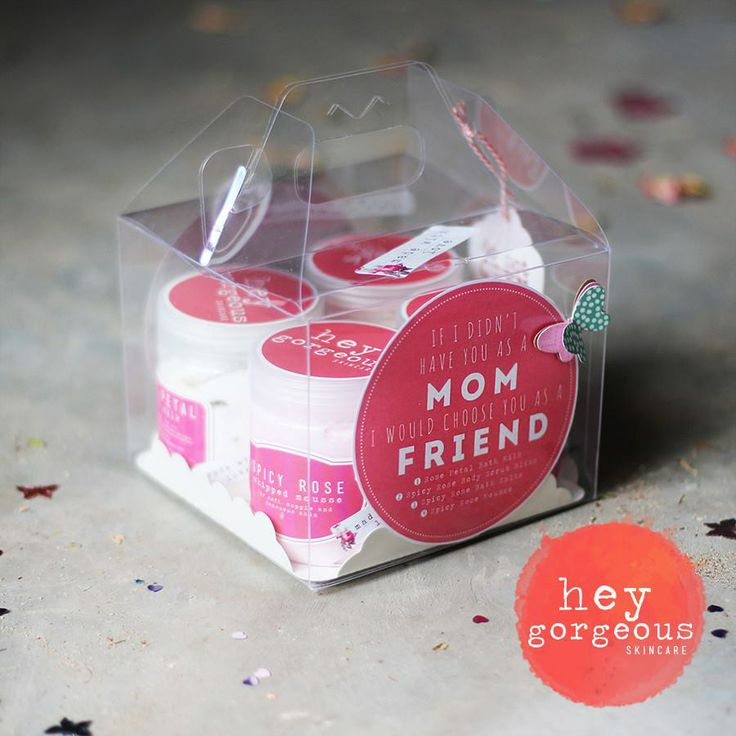 """If I didn't have you a mom, I would choose you as a friend."" Treat your Mom to a gift box of gorgeousness just to let her know how awesome she is. This fab 4 product gift set  is a real treat for all the senses."