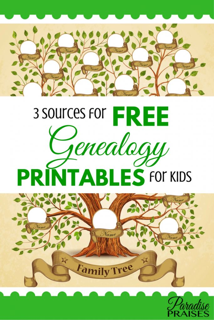 Family tree free genealogy printables are a great way to introduce younger generations to the joys of genealogy and learning about their relatives.