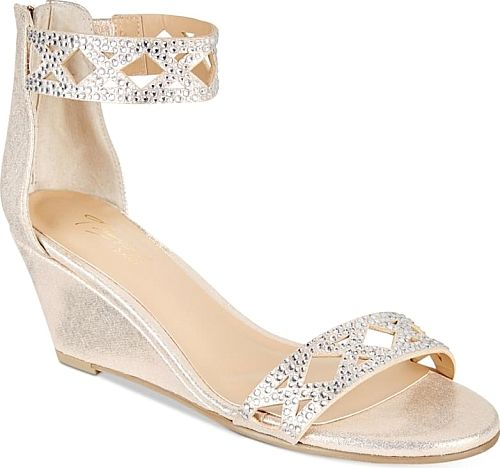 Thalia Sodi Women's Shoes in Champagne Color. Thalia Sodi Addis Braided Wedge Sandals, Created for Macy's Women's Shoes