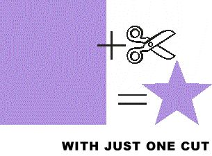 cut a 5 point star in one snip. Clever.