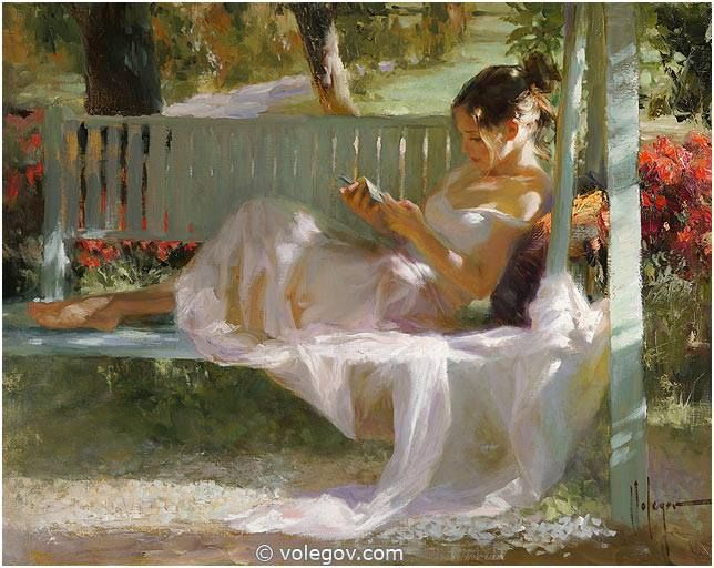 "Vladimir Volegov Finished panting: ""French swing"", 92x73 cm, oil on canvas, 2014 #art #painting #sun #france"