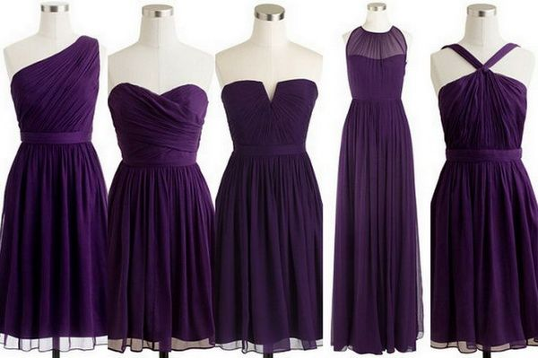 Put your bridesmaids in different dresses of the same color! That way everyone gets a style they like! Top 10 Colors for Bridesmaid Dresses