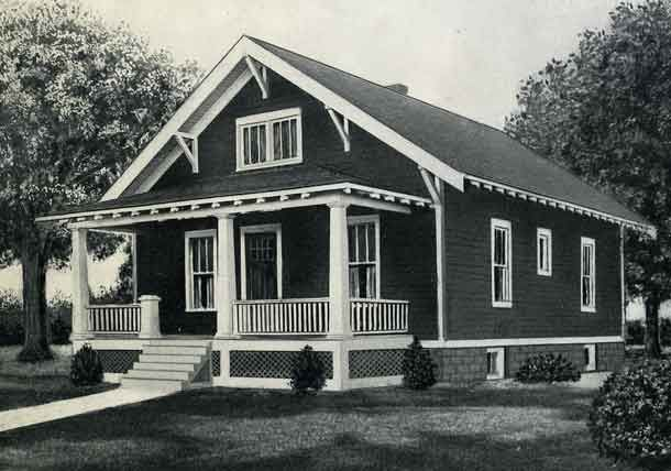 1926 standard house plans the dayton with a basement for for Dayton home designs