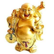Buddha of Good Fortune.  I'll be rubbing his belly for luck every day.  LOL!