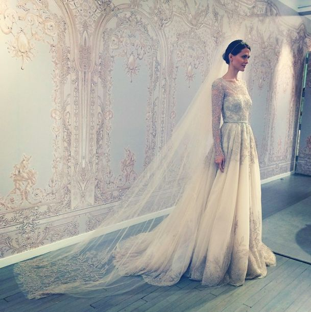 Saks Fifth Avenue Wedding Gowns: Monique Lhuillier Bridal Fall 2015 -- Photo By Saks Fifth