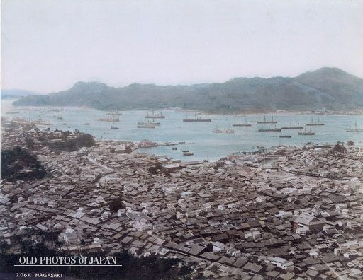 OLD PHOTOS of JAPAN: 町と湾の眺め 1890年代の長崎