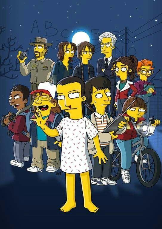Simpsonized version of Stranger Things