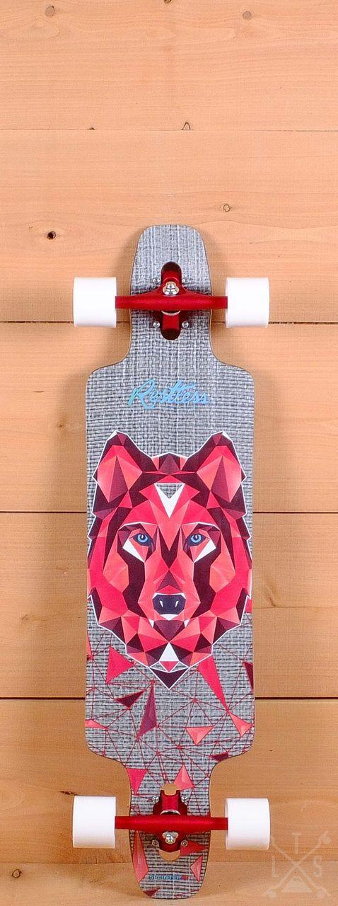 """Restless 38"""" Splinter FiberLam Wolf Longboard"""