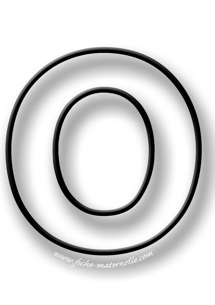 Coloriage de la lettre O | Coloriage, Lettre a, Lettre a imprimer