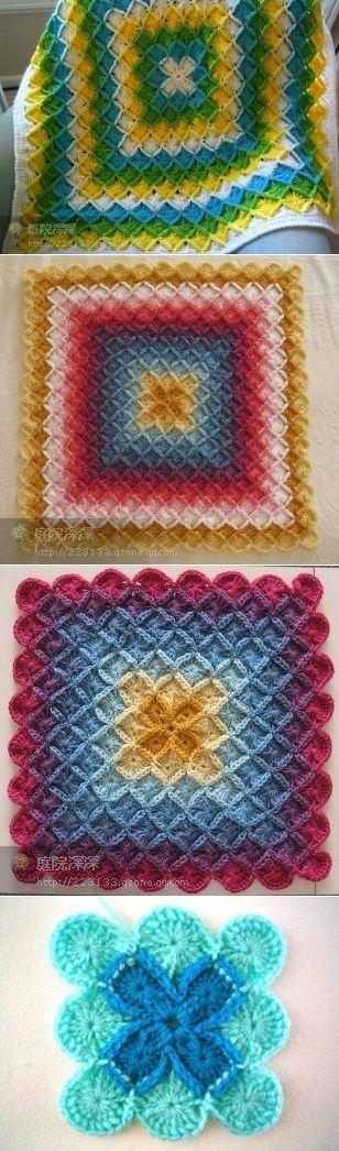 Яркие коврики интересным узором.