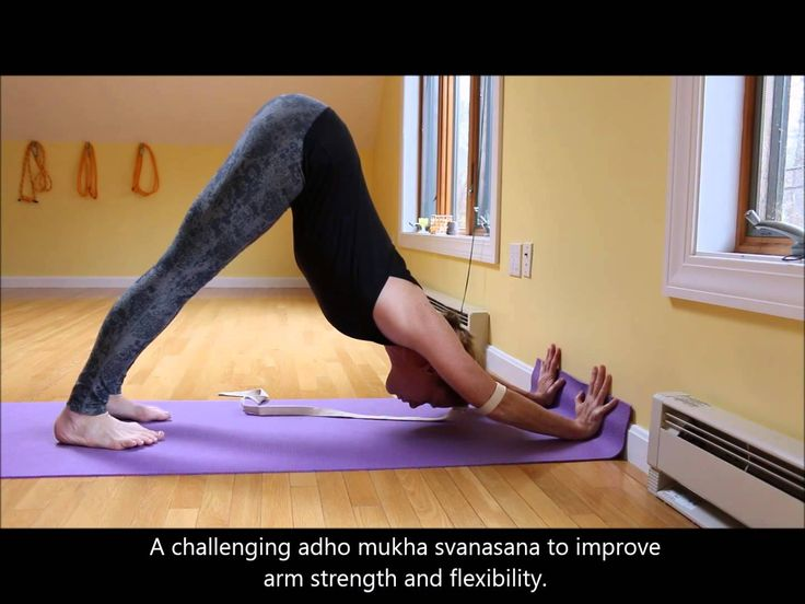 Adho Mukha Svanasana variation for arm strength and flexibility