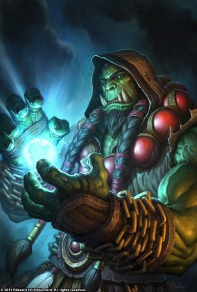 Thrall, the most powerful Shaman alive in all Azeroth. My second favorite male character. :D