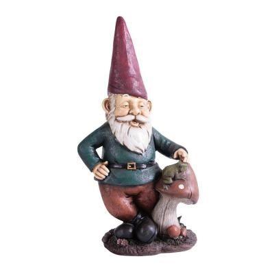 Kelkay Midi Mushroom Frog Gnome 4815   The Home Depot