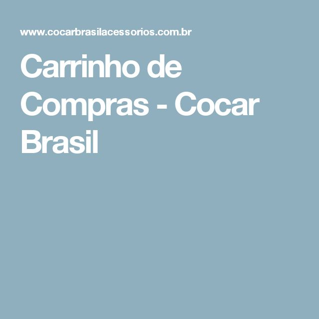 Carrinho de Compras - Cocar Brasil