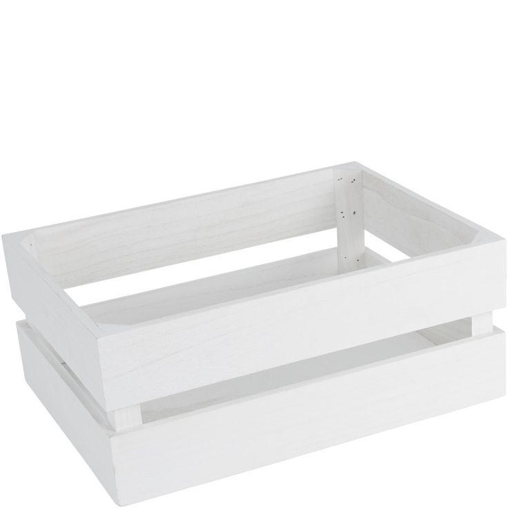 Trälåda vit 40x30x17cm 69:-