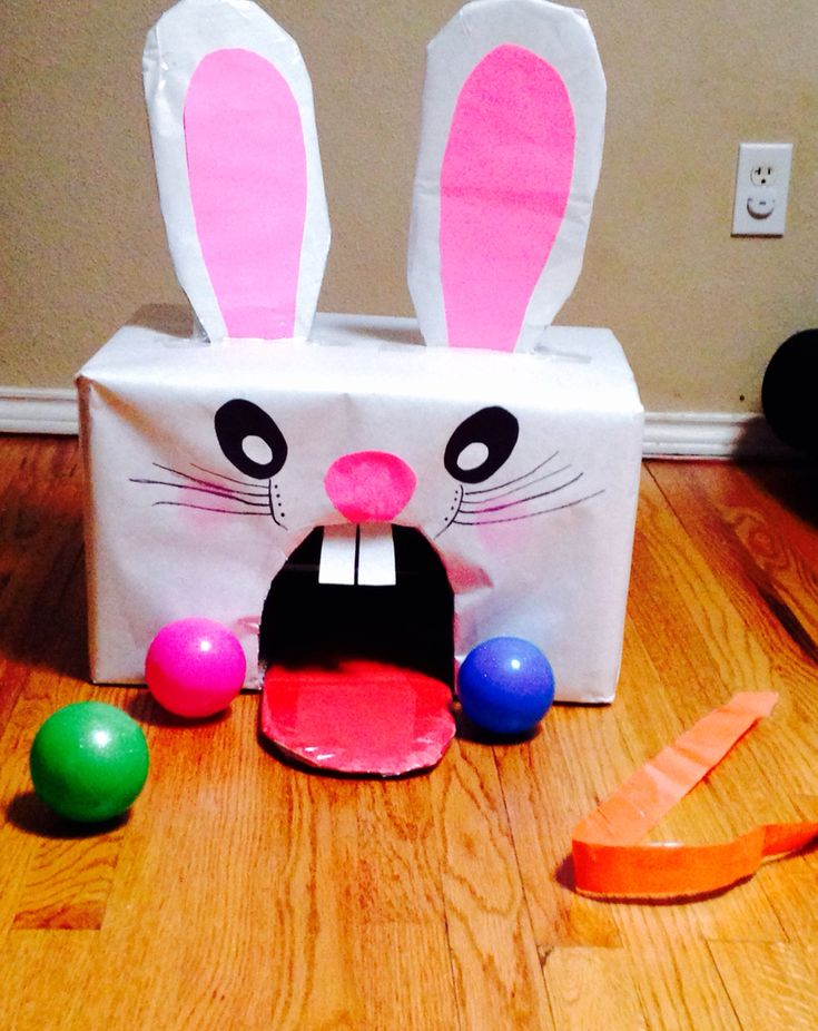 Easter bunny game  Indoor or outdoor  Easy to make and fun for all ages!