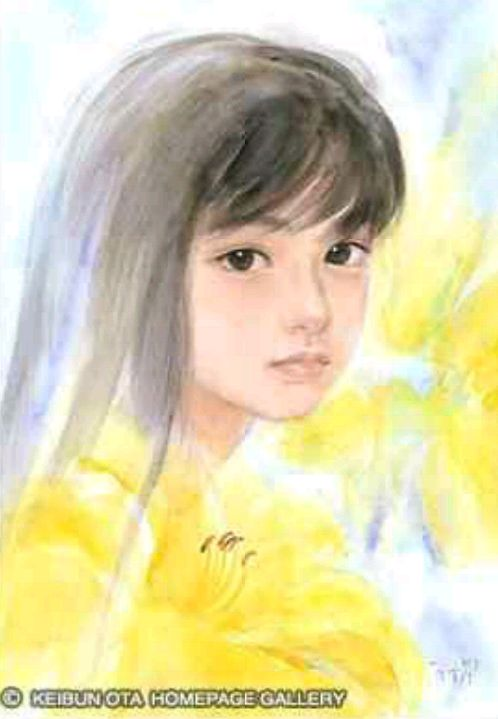 おおた慶文さんの絵 子供や少女の水彩画 の画像 moonchiのブログ